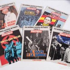 Coleccionismo de Revista Tiempo: 13 FASCÍCULOS LOS ARCHIVOS SECRETOS DE FRANCO. REVISTA TIEMPO. GRUPO Z. Lote 183800721