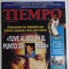 Coleccionismo de Revista Tiempo: REVISTA TIEMPO - NÚMERO 752 - 30 SEPTIEMBRE 1996 - TERRORISTA, DON JUAN CARLOS, REY, MAGIC JOHNSON. Lote 186284790