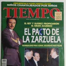 Coleccionismo de Revista Tiempo: REVISTA TIEMPO - NÚMERO 734 - 27 MAYO 1996 - PACTO DE LA ZARZUELA, AZNAR, ETA, IRA, SUÁREZ, REY. Lote 186284871