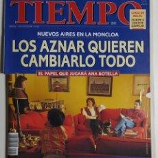 Coleccionismo de Revista Tiempo: REVISTA TIEMPO - NÚMERO 732 - 13 MAYO 1996 - AZNAR, ANA BOTELLA, LA MONCLOA, PARCHES, INVESTIDURA. Lote 186285106