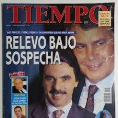 Coleccionismo de Revista Tiempo: REVISTA TIEMPO - NÚMERO 725 - 25 MARZO 1996 - AZNAR, GONZÁLEZ, RELEVO BAJO SOSPECHA, FRAGA, PAPELES. Lote 186285332