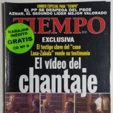 Coleccionismo de Revista Tiempo: REVISTA TIEMPO - NÚMERO 874 - 1 FEBRERO 1999 - VÍDEO DEL CHANTAJE, LASA-ZABALA, RODRIGO RATO. Lote 186285597