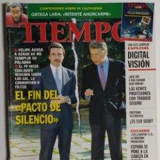 Coleccionismo de Revista Tiempo: REVISTA TIEMPO - NÚMERO 810 - 10 NOVIEMBRE 1997 - FELIPE GONZÁLEZ, AZNAR, ORTEGA LARA, PACTO. Lote 186287073