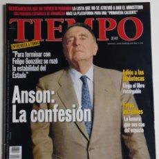 Coleccionismo de Revista Tiempo: REVISTA TIEMPO - NÚMERO 825 - 23 FEBRERO 1998 - ANSÓN: LA CONFESIÓN, FELIPE GONZÁLEZ, ESTABILIDAD. Lote 186288351