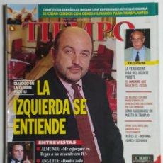 Coleccionismo de Revista Tiempo: REVISTA TIEMPO - NÚMERO 792 - 7 JULIO 1997 - JOAQUÍN ALMUNIA, JULIO ANGUITA, PEROTE, PSOE, IU, CESID. Lote 186288980