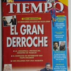 Coleccionismo de Revista Tiempo: REVISTA TIEMPO - NÚMERO 760 - 25 NOVIEMBRE 1996 - EL GRAN DERROCHE, DESPILFARROS SOCIALISTAS, AZNAR. Lote 186289095