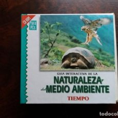 Coleccionismo de Revista Tiempo: GUÍA INTERACTIVA DE LA NATURALEZA Y DEL MEDIO AMBIENTE. TIEMPO.1997. CAJA CON 6 CDS.. Lote 188716931
