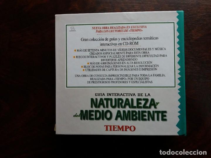 Coleccionismo de Revista Tiempo: GUíA INTERACTIVA DE LA NATURALEZA Y DEL MEDIO AMBIENTE. TIEMPO.1997. CAJA CON 6 CDs. - Foto 2 - 188716931