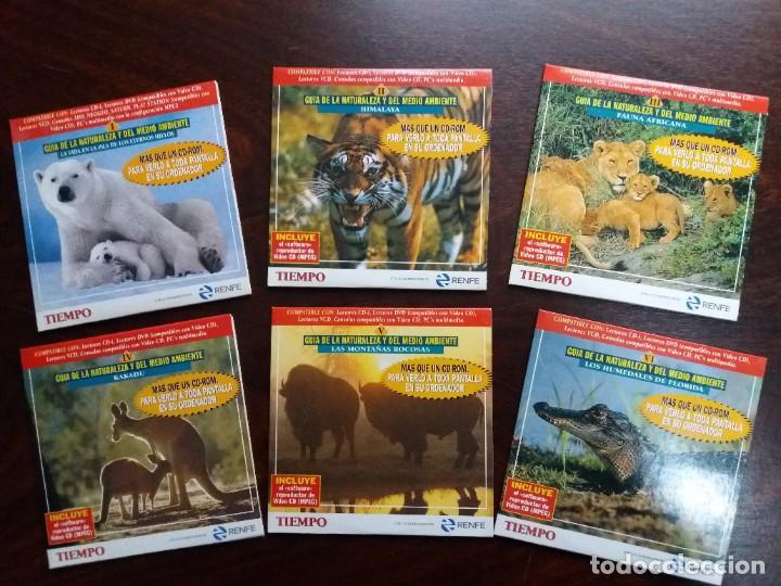 Coleccionismo de Revista Tiempo: GUíA INTERACTIVA DE LA NATURALEZA Y DEL MEDIO AMBIENTE. TIEMPO.1997. CAJA CON 6 CDs. - Foto 3 - 188716931
