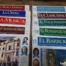 Coleccionismo de Revista Tiempo: 9 FASCICULOS GRAN ENCICLOPEDIA DE LA MUSICA REVISTA TIEMPO. Lote 189610522