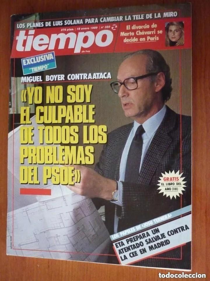 REVISTA TIEMPO Nº 350, ENERO 89 (Coleccionismo - Revistas y Periódicos Modernos (a partir de 1.940) - Revista Tiempo)