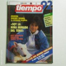 Coleccionismo de Revista Tiempo: TIEMPO. MAYO 1992. ENTREVISTA A MARIBEL VERDU. ARANCHA SANCHEZ VICARIO. VER SUMARIO. Lote 191304995