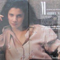 Coleccionismo de Revista Tiempo: RECORTE REVISTA TIEMPO Nº 337 1988 MARIBEL VERDU 3 PGS. Lote 191576201