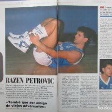 Coleccionismo de Revista Tiempo: RECORTE REVISTA TIEMPO Nº 337 1988 DRAZEN PETROVIC. Lote 191576473