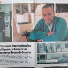 Coleccionismo de Revista Tiempo: RECORTE REVISTA TIEMPO Nº 337 1988 JOSE CARRERAS 6 PGS. Lote 191576601