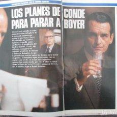 Coleccionismo de Revista Tiempo: RECORTE REVISTA TIEMPO Nº 342 1988 MARIO CONDE, KOPLOVITZ, PORTADA Y 8 PGS. Lote 191577088