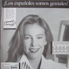 Coleccionismo de Revista Tiempo: RECORTE REVISTA TIEMPO Nº 342 1988 HOJA PUBLICIDAD COMPAÑIA ESPAÑOLA DE INFORMATICA. ANA OBREGON. Lote 191577486