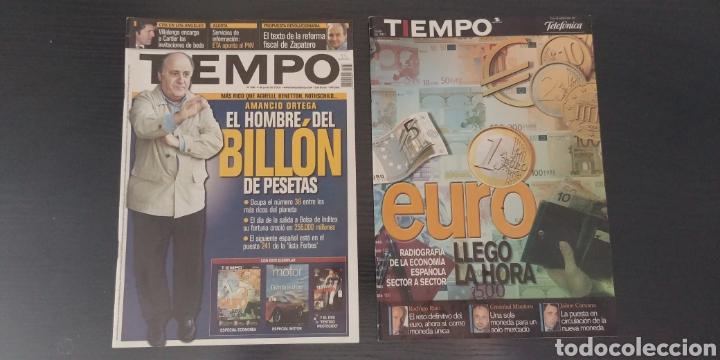 2 REVISTAS TIEMPO AÑO 2001 (Coleccionismo - Revistas y Periódicos Modernos (a partir de 1.940) - Revista Tiempo)