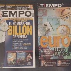 Coleccionismo de Revista Tiempo: 2 REVISTAS TIEMPO AÑO 2001. Lote 192357743
