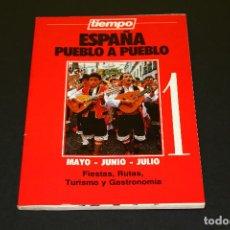 Coleccionismo de Revista Tiempo: ESPAÑA PUEBLO A PUEBLO NÚM. 1 - MAYO JUNIO JULIO - TIEMPO - '90S. - FIESTAS RUTAS GASTRONOMÍA.. Lote 192483162