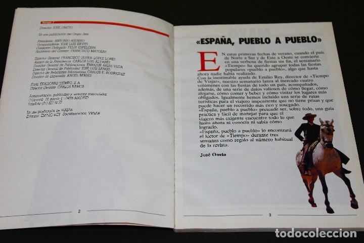 Coleccionismo de Revista Tiempo: ESPAÑA PUEBLO A PUEBLO núm. 1 - Mayo Junio Julio - TIEMPO - 90s. - Fiestas Rutas Gastronomía. - Foto 2 - 192483162