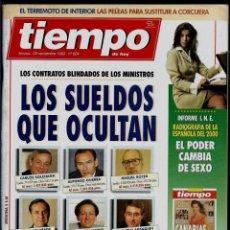 Coleccionismo de Revista Tiempo: REVISTA TIEMPO - Nº 604 -NOVIEMBRE DE 1993 - LOS SUELDOS QUE OCULTAN - CONTRATOS BLINDADOS. Lote 192841715