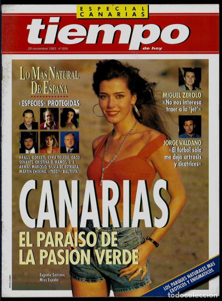 REVISTA TIEMPO - SUPLEMENTO AL Nº 604 - 1993 - ESPECIAL CANARIAS - EN PERFECTO ESTAD (Coleccionismo - Revistas y Periódicos Modernos (a partir de 1.940) - Revista Tiempo)