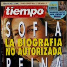 Coleccionismo de Revista Tiempo: REVISTA TIEMPO- Nº 605- 6-12-93 -REINA SOFIA - LA BIOGRAFIA NO AUTORIZADA-PAPELES FORTUNA DE ROLDAN. Lote 192842060
