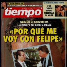 Coleccionismo de Revista Tiempo: REVISTA TIEMPO - Nº 575 - 10-5-93 - GARZON - PORQUE ME VOY CON FELIPE. Lote 192842183