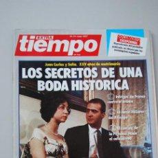 Coleccionismo de Revista Tiempo: REVISTA TIEMPO-MAYO 1987-JUAN CARLOS Y SOFIA. LOS SECRETOS DE UNA BODA HISTÓRICA.. Lote 198526036