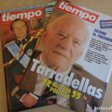 Coleccionismo de Revista Tiempo: DE KIOSKO. REVISTA TIEMPO Nº 232 + SUPLEMENTO TARRADELLAS. Lote 199514476