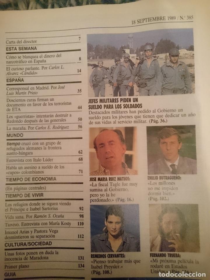 Coleccionismo de Revista Tiempo: REVISTA TIEMPO - MISS ESPAÑA-FERNANDO TRUEBA-STEFFI GRAF- INMA DE SANTIS -EMILIO BUTRAGUEÑO - Foto 3 - 207352052