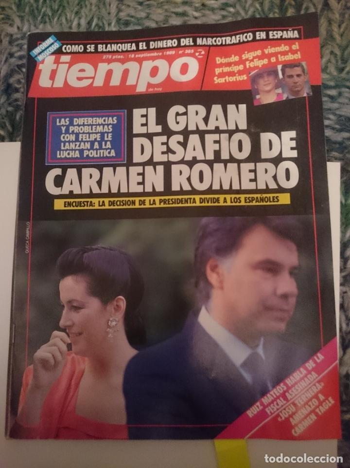 REVISTA TIEMPO - MISS ESPAÑA-FERNANDO TRUEBA-STEFFI GRAF- INMA DE SANTIS -EMILIO BUTRAGUEÑO (Coleccionismo - Revistas y Periódicos Modernos (a partir de 1.940) - Revista Tiempo)