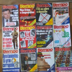 Collectionnisme de Magazine Tiempo: LOTE 20 REVISTAS TIEMPO DE HOY AÑOS 80 L.1. Lote 210371280