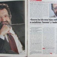 Coleccionismo de Revista Tiempo: RECORTE REVISTA TIEMPO Nº 351 1989 RICARDO GARCIA DAMBORENEA 4 PGS. Lote 211845927