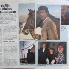 Coleccionismo de Revista Tiempo: RECORTE REVISTA TIEMPO Nº 351 1989 CAYETANO DE ALBA 3 PGS. Lote 211846001