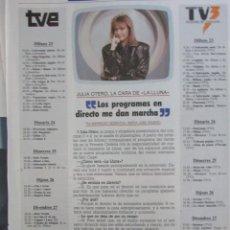 Coleccionismo de Revista Tiempo: RECORTE REVISTA TIEMPO Nº 351 1989 PEDRO RUIZ, JULIA OTERO. Lote 211846121