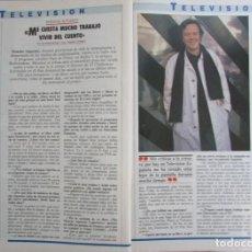Coleccionismo de Revista Tiempo: RECORTE REVISTA TIEMPO Nº 351 1989 MONCHO ALPUENTE. Lote 211846201