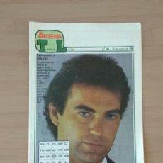 Coleccionismo de Revista Tiempo: ANTENA TIEMPO LIBRE Nº 348 22 DE MAYO DE 1988 PASATIEMPOS PORTADA BERTIN OSBORNE. Lote 213795967