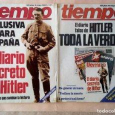 Coleccionismo de Revista Tiempo: TIEMPO-DIARIO SECRETO DE HITLER. 2 REVISTAS.. Lote 27062271