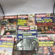 Coleccionismo de Revista Tiempo: 7 REVISTAS TIEMPO 1988/ 1993. Lote 219968488