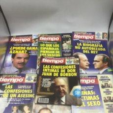 Coleccionismo de Revista Tiempo: LOTE 7 REVISTAS TIEMPO 1993. Lote 219969003