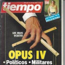 Coleccionismo de Revista Tiempo: REVISTA RIEMPO Nº 219 DEL 21-07-1986. Lote 222786763