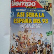 Coleccionismo de Revista Tiempo: REVISTA TIEMPO AÑO 1993 ENCUADERNADO TOMO I (10 REVISTAS). Lote 224997645