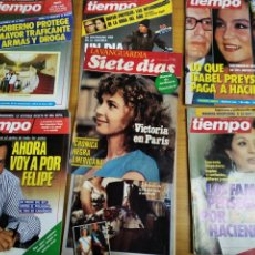 Coleccionismo de Revista Tiempo: LOTE 7 REVISTAS TIEMPO LA VANGUARDIA N° 256 265 266 267 296. Lote 230411845