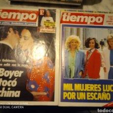 Coleccionismo de Revista Tiempo: LOTE 2 REVISTAS DE TIEMPO NUMERO 166Y 211. Lote 233511000