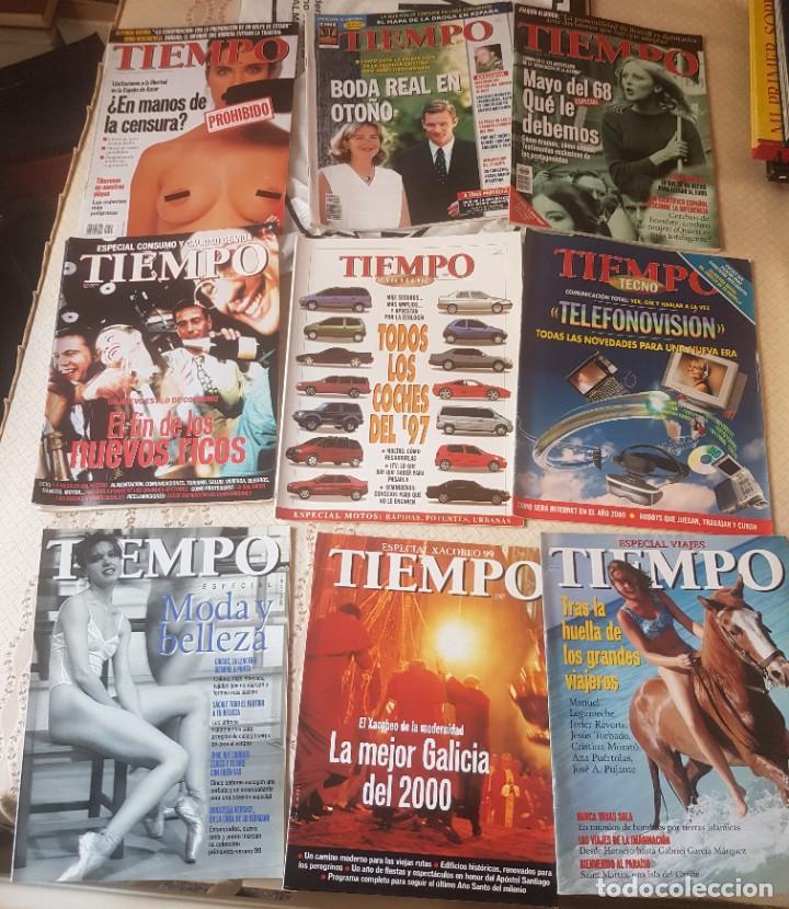 LOTE 10 EXTRAS Y OTRAS REVISTA TIEMPO - AÑOS 90 (Coleccionismo - Revistas y Periódicos Modernos (a partir de 1.940) - Revista Tiempo)