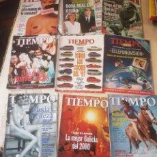 Coleccionismo de Revista Tiempo: LOTE 10 EXTRAS Y OTRAS REVISTA TIEMPO - AÑOS 90. Lote 190013627
