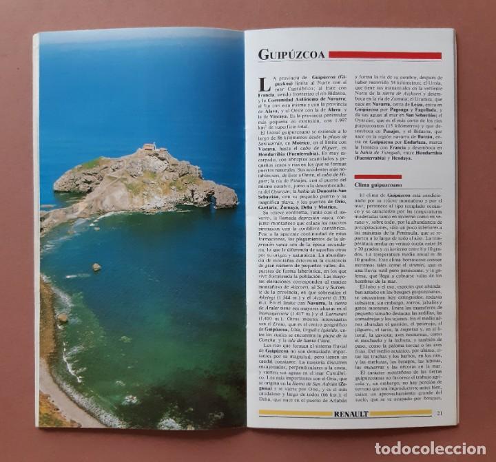 Coleccionismo de Revista Tiempo: GUÍA TURISMO 4 PAIS VASCO. ESPAÑA DE LA A A LA Z. TIEMPO. RENAULT. 1989. - Foto 3 - 235985980