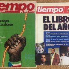 Coleccionismo de Revista Tiempo: LOTE 2 REVISTAS TIEMPO 1981 1989 NUMERO 17 348 PORTADA EL LIBRO DEL AÑO PSOE GUINEA GOBIERNO BANCA. Lote 238149300